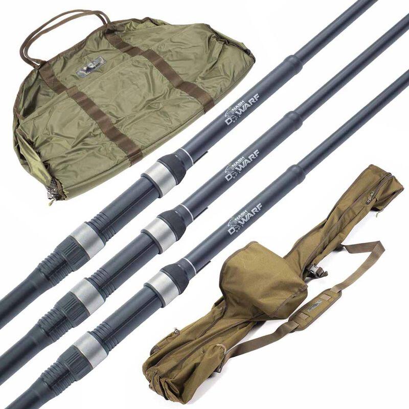 Pack 3 cannes dwarf es 9' 3.5lbs + un fourreau 9' 3 cannes + un tapis de réception dwarf sling mat large - Packs   Pacific Pêche