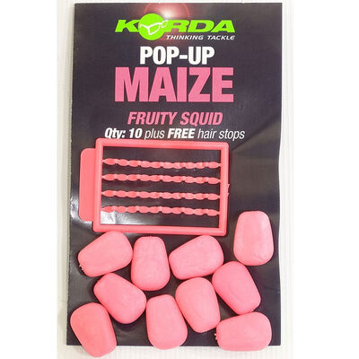 Grains de maïs artificiels carpe korda pop up maize fruity squid - Imitations | Pacific Pêche