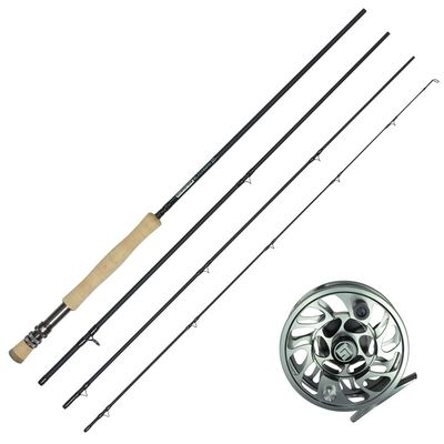 Ensemble mouche canne blackbone 10' soie 6-7 + moulinet r-stream 79 black - Cannes | Pacific Pêche