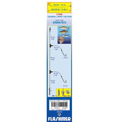 Bas de ligne mer flashmer t-swivel dl5 - Bas de Lignes / Lignes Montées | Pacific Pêche