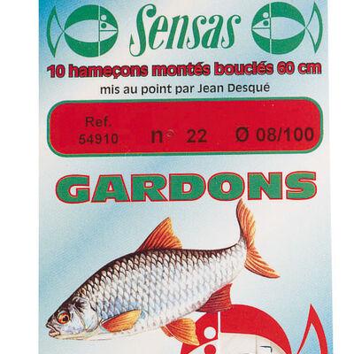 Hameçons montés coup sensas gardons 40cm (x10) - Hameçons Montés | Pacific Pêche