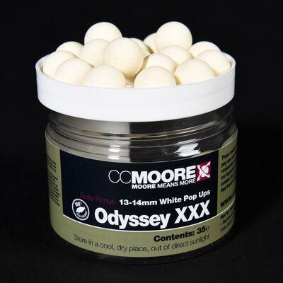 Bouillettes flottantes carpe cc moore odyssey xxx white pop ups 13/14mm (x35) - Flottantes | Pacific Pêche