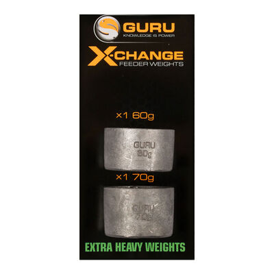 Plombs pour cages feeder guru x-change weights extra heavy (2 pièces) - Cages Feeder | Pacific Pêche