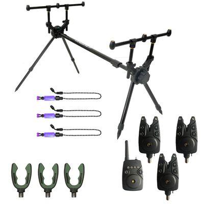 Pack mack2 rod pod falcon 3 rod + détecteurs + supports arrières + indicateurs - Packs   Pacific Pêche