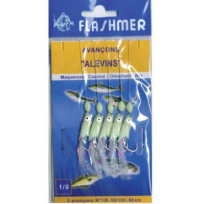 Leurre train de plumes mer flashmer alevins 5 hamecons 1/0 - Bas de Lignes / Lignes Montées | Pacific Pêche