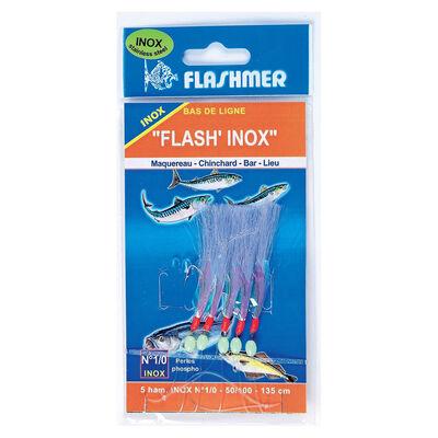 Mitraillette flashmer flash' inox 5 hameçons - Bas de Lignes / Lignes Montées | Pacific Pêche