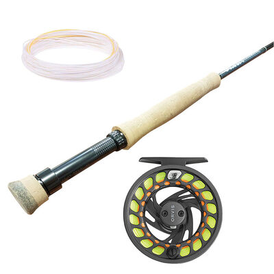 Pack canne clearwater 10' soie 3 + moulinet clearwater gray 2 + soie visiolight jmc - Ensembles | Pacific Pêche