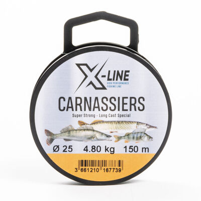 Nylon x-line carnassiers 150m - Monofilaments | Pacific Pêche