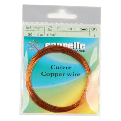Accessoire pour monture mort manié carnassier cannelle fil de cuivre 10m - Monture | Pacific Pêche