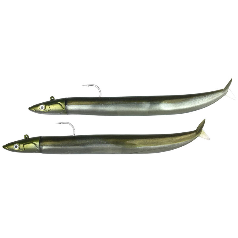 Leurres souples fiiish double combo crazy sand eel 150 off shore 15 cm 20g - Leurres souples   Pacific Pêche