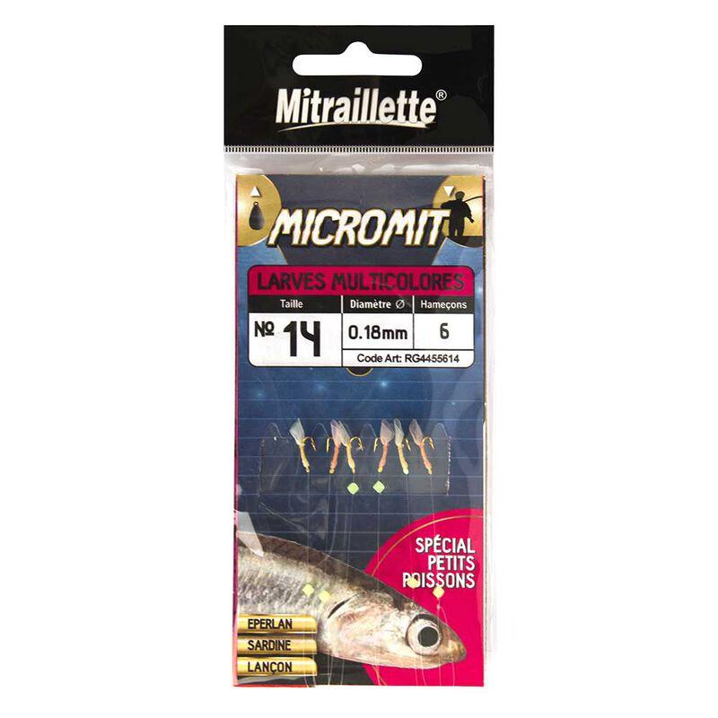 Mitraillette ragot micromit  larve multicolores - Trains de Plumes | Pacific Pêche