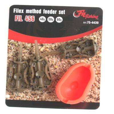 Kit de 3 method feeder de 40, 50 et 60g + moule à feeder - Cages feeder | Pacific Pêche
