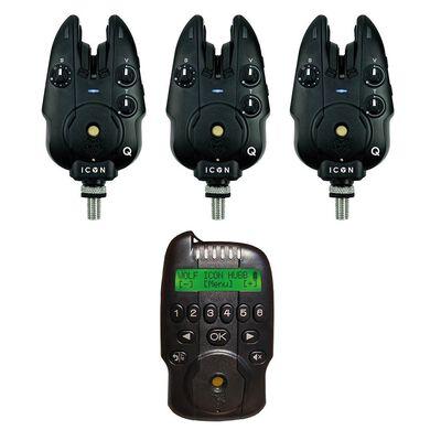 Coffret 3 détecteurs wolf icon q + centrale hubb - Coffrets détecteurs   Pacific Pêche