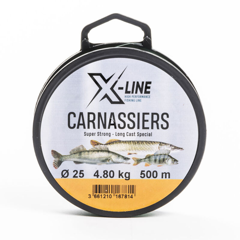 Nylon x-line carnassiers 500m - Monofilaments | Pacific Pêche