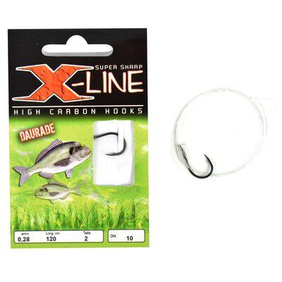 Hameçons montés mer x-line daurade (x10) - Hameçons Montés   Pacific Pêche