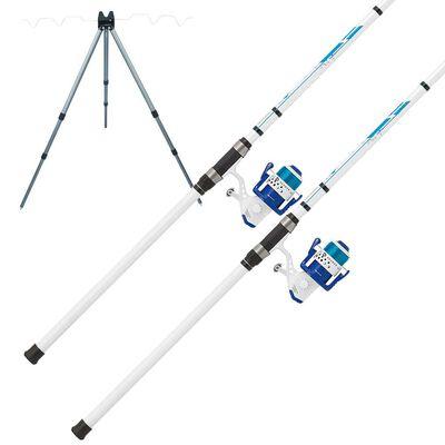 Pack surfcasting 2 ensembles telescopiques mitchell neuron + trépied de quai - Cannes | Pacific Pêche