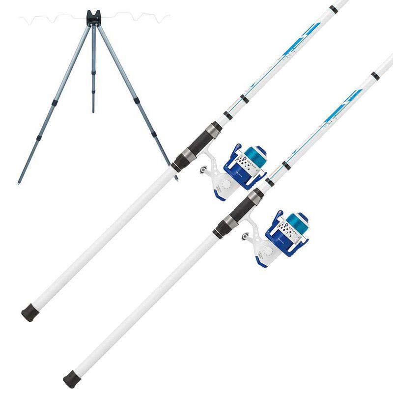Pack surfcasting 2 ensembles telescopiques mitchell neuron + trépied de quai - Cannes   Pacific Pêche