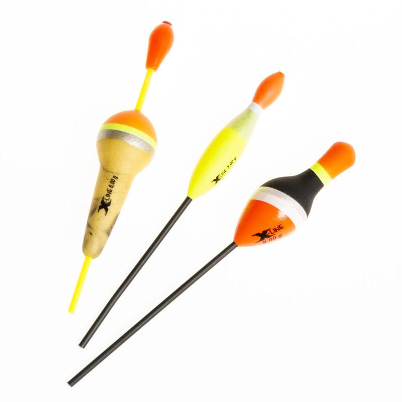 Pack de 3 flotteurs carnassier x-line (3g 6g 8g) - Packs | Pacific Pêche