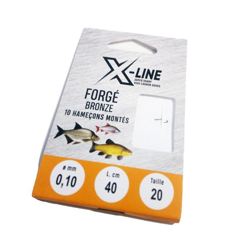 Hameçons montés coup x line forgé bronzé 40cm (x10) - Hameçons Montés   Pacific Pêche
