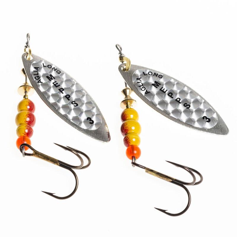 Cuillère tournante carnassier mepps aglia longue rainbow argent (x2) - Leurre cuillères | Pacific Pêche