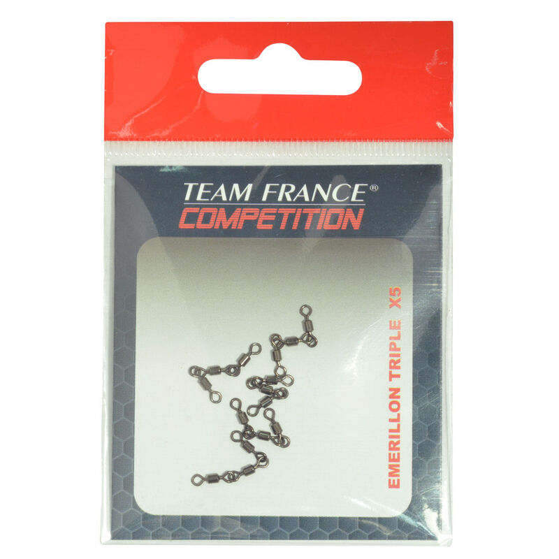 Emerillon baril coup team france triple x5 - Emerillons / Agrafes / Perles | Pacific Pêche