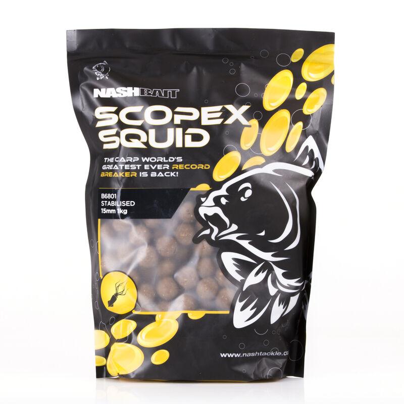 les meilleurs bouillettes pour la carpe nashbait scopex squid 15mm