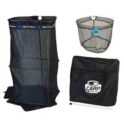 Ensemble carp garbolino bourriche 2.50m + pique + tête épuisette + sac - Packs | Pacific Pêche