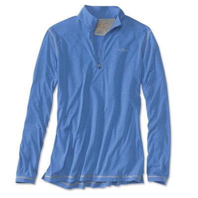 T-shirt à manches longues orvis drirelease zipneck red (bleu azur sablé) - Tee-shirts | Pacific Pêche