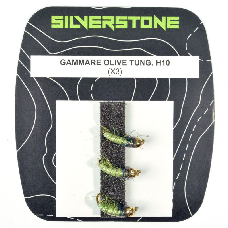 Nymphe silverstone gammare olive tungstène h10 (x3) - Nymphes   Pacific Pêche