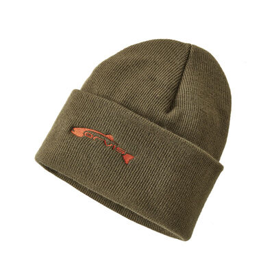 Bonnet orvis trout knit cap olive - Bonnets | Pacific Pêche