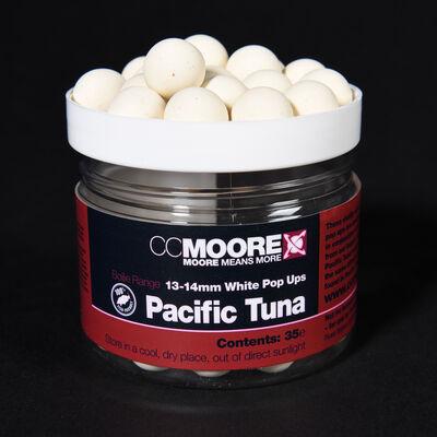 Bouillettes flottantes carpe cc moore pacific tuna white pop ups 13/14mm (x35) - Flottantes | Pacific Pêche