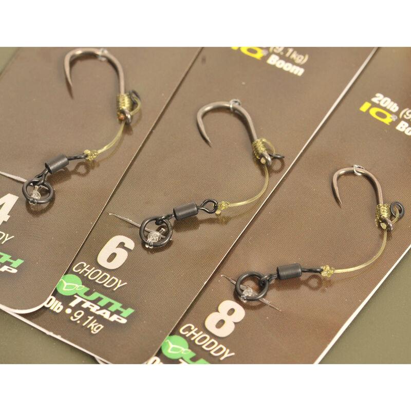Bas de ligne carpe korda hinge rig choddy barbless mt + iq2 20lb - Bas de Ligne Montés | Pacific Pêche