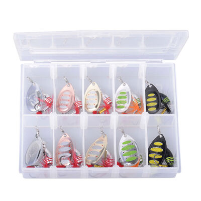 Kit de cuillères tournantes carnassier savage gear kit rotex spinner (x10) - Packs   Pacific Pêche