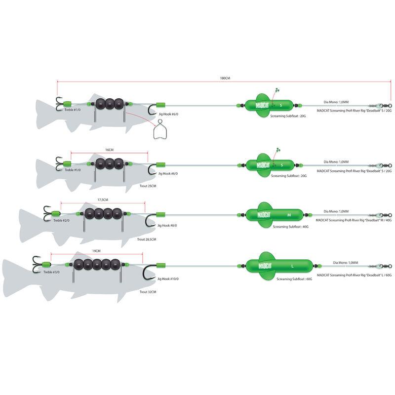 Bas de ligne monté silure madcat montage screaming profi river dead bait - Filaments / Bas de lignes | Pacific Pêche