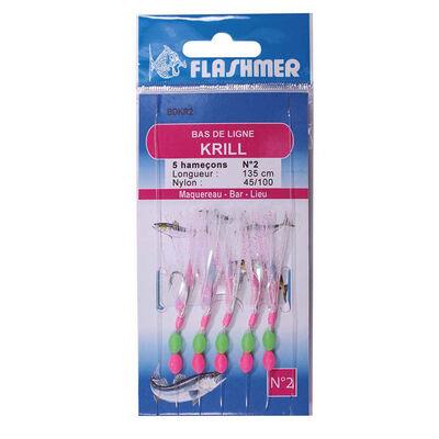 Mitraillette flashmer krill 5 hameçons - Bas de Lignes / Lignes Montées | Pacific Pêche