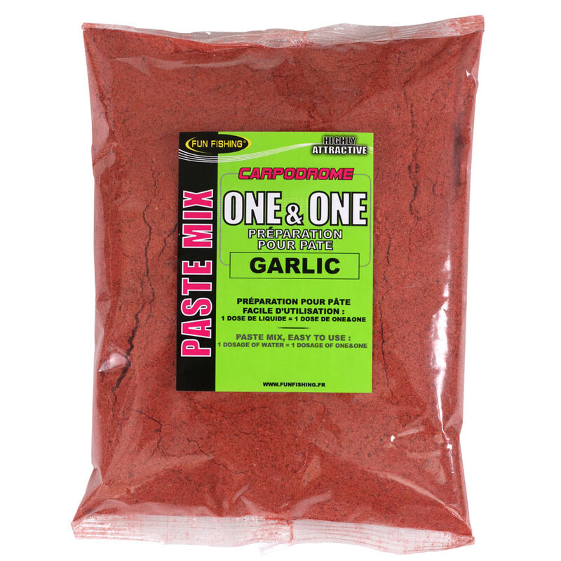 Pâte d'eschage coup fun fishing one and one garlic 500g - Eschage | Pacific Pêche