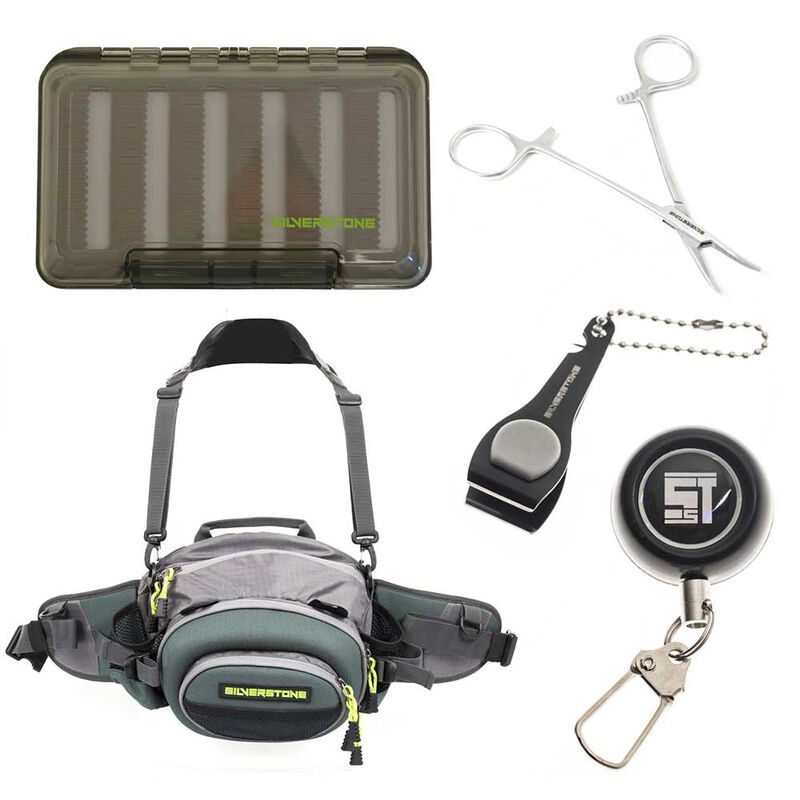Pack bagagerie mouche silverstone hip and spin pack + outils + boite à mouches - Packs | Pacific Pêche