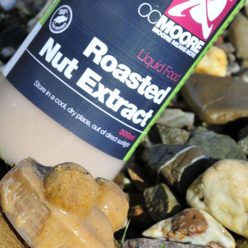 Liquide de trempage carpe cc moore roasted nut extract 500ml - Liquides de trempage | Pacific Pêche