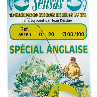 Hameçons montés coup sensas special anglaise 60cm (x10) - Hameçons Montés | Pacific Pêche
