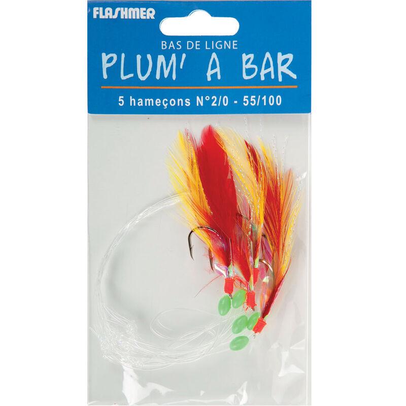 Bas de ligne mer flashmer plum'a bar 2/0 - Bas de Lignes / Lignes Montées   Pacific Pêche