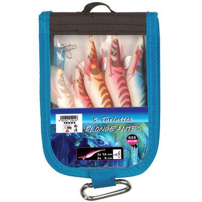 Turlutte mer flashmer kit 5 turluttes plongeantes - Turluttes | Pacific Pêche