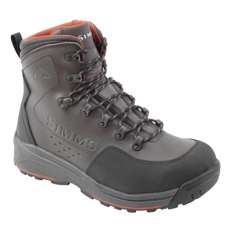 Chaussures simms freestone boot dark olive (semelles en gomme) - Chaussures de wading | Pacific Pêche