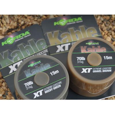 Leadcore carpe korda kable xt extreme leadcore 70lb (15m) - Leadcore   Pacific Pêche