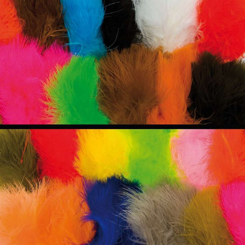 Fly tying plumes marabout large jmc - Plumes | Pacific Pêche