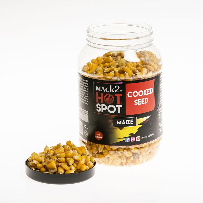 Graines cuites carpe mack2 cooked seed maize - Prêtes à l'emploi   Pacific Pêche