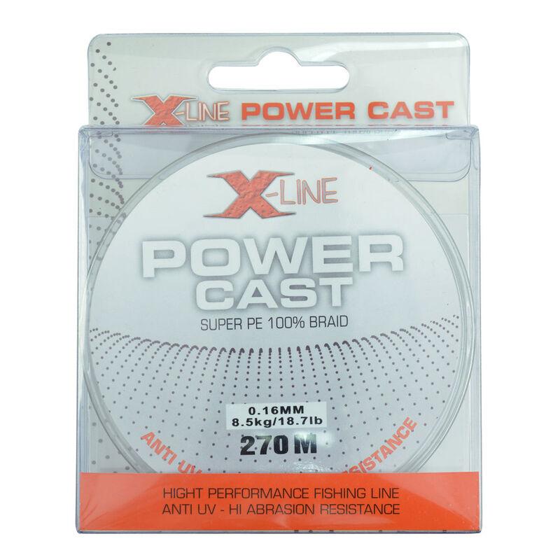 Tresse x-line power cast green 4 brins 270m - Tresses   Pacific Pêche
