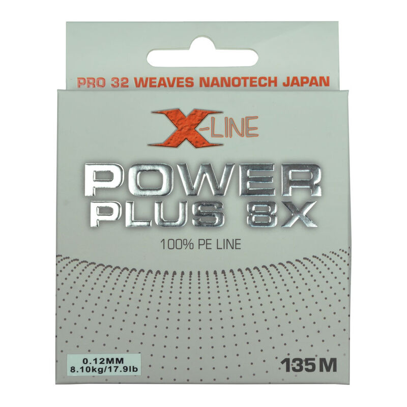 Tresse carnassier x-line power plus 8x yellow 8 brins 135m - Tresses | Pacific Pêche