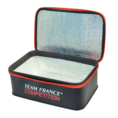 Trousse à appâts isotherme team france competition 36x23x13 - Trousses | Pacific Pêche