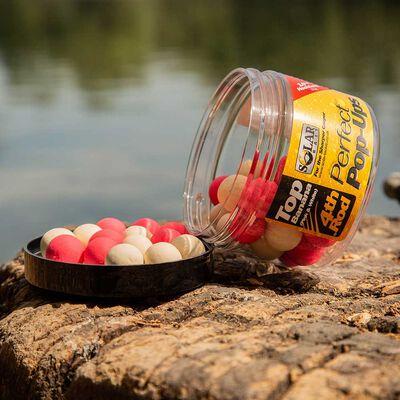 Bouillettes flottantes carpe solar pink and white top banana pop ups - Flottantes | Pacific Pêche