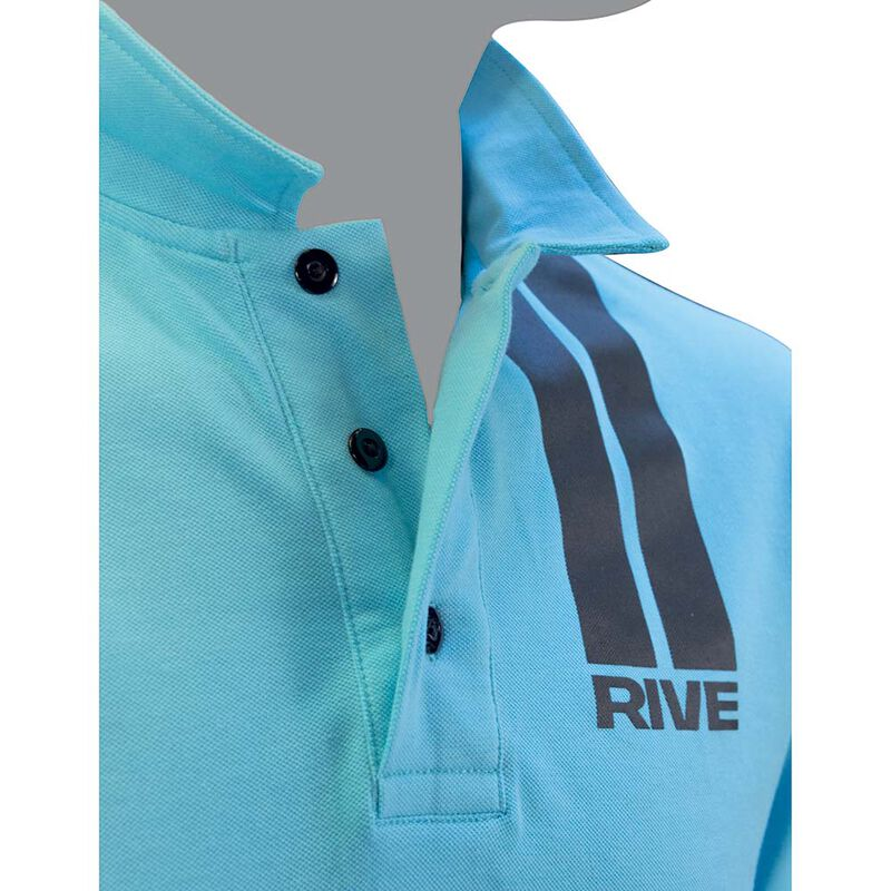 Polo manches courtes rive pour homme couleur aqua - Polos | Pacific Pêche